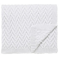 Fable - White 'Larra' throw