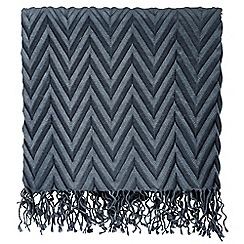 Hotel - Dark Blue 'Meridian' throw
