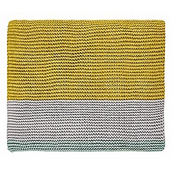 Clarissa Hulse - Aqua cotton 'Mini Patchwork' knitted throw