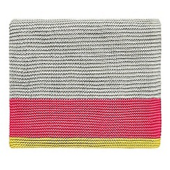 Clarissa Hulse - Bright pink cotton 'Mini Patchwork' knitted throw
