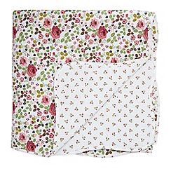 Julie Dodsworth - Pink 'Mary Rose' throw