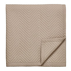 Fable - Beige cotton voile 'Nizami' throw