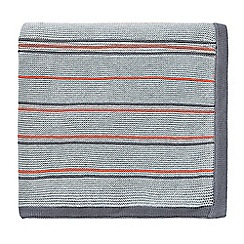 Sanderson - Light grey cotton 'Pippin' knitted throw