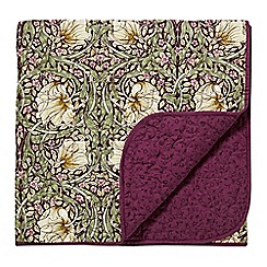 Morris & Co - purple 'Pimpernel' quilted throw