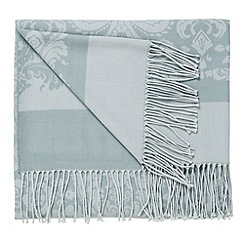 Bedeck - Aqua 'Repose jacquard' throw