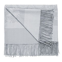 Bedeck - Grey 'Repose jacquard' throw