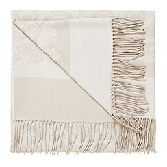 Bedeck - Natural 'Repose jacquard' throw