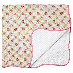 Julie Dodsworth - Multicoloured 'Rose Cottage' throw