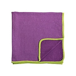 Helena Springfield - Purple acrylic 'Sally' knitted throw