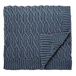 Fable - dark blue 'Shiraz' knitted throw