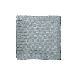 Hotel - Aqua acrylic 'Saryn' knitted throw