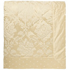 Sanderson - Soft Gold 'Thisbe' quilted throw