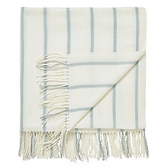 Helena Springfield - Pale Blue 'Veneto' woven throw