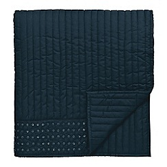 Bedeck 1951 - Navy 'Ziba' throw