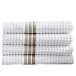 Hotel - White & Natural 'Ascot' towels