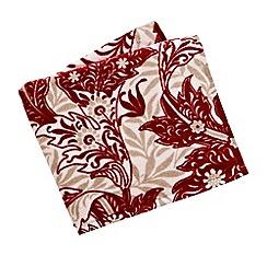 V & A - Red 'Dianthus' towels