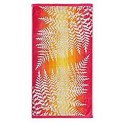 Clarissa Hulse - Peach cotton 'Filix' towels