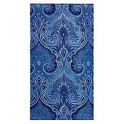 Echo - Dark blue 'Jakarta' printed towels