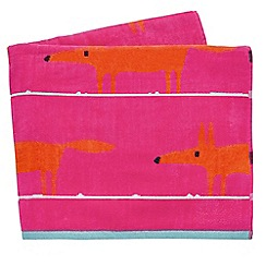 Scion - cerise 'Mr Fox' beach towels