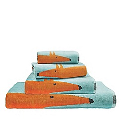 Scion - Aqua 'Mr Fox' towels
