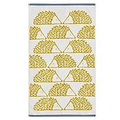 Scion - Mustard cotton velour 'Spike' towels