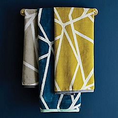 Harlequin - Blue cotton 'Sumi' towels