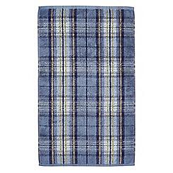 Morris & Co - Blue 'Woodford Plaid' towels