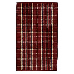 Morris & Co - Red 'Woodford Plaid' towels