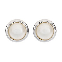 Pure Luxuries London - Gift packaged 10-11mm silver mabe pearl earrings