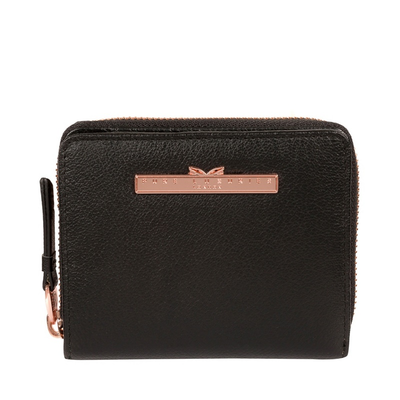 Pure Luxuries London Black 'Piper' Leather Purse - MISC - Purses (P5056032760196) photo