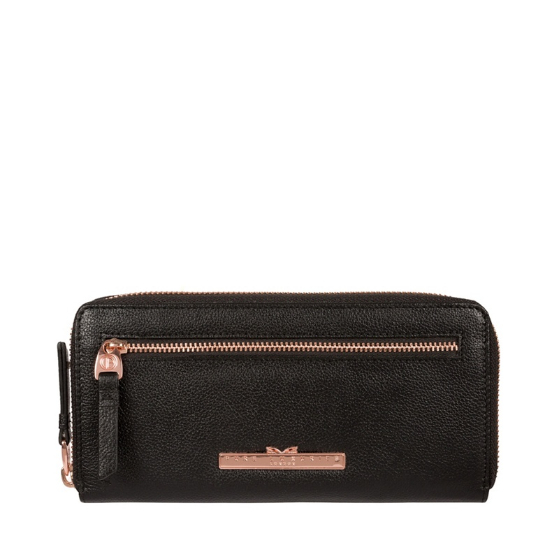 Pure Luxuries London Black 'Starling' Leather Purse - MISC - Purses (P5056032760431) photo