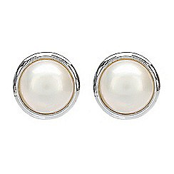 Pure Luxuries London - Gift packaged 13mm mabe pearl earrings