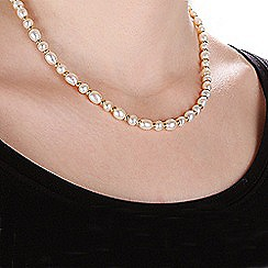 Pure Luxuries London - Gift packaged freshwater pearl and 9ct yellow gold spaced necklace