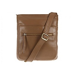 Conkca London - Biscuit 'Azaria' small nappa leather bag