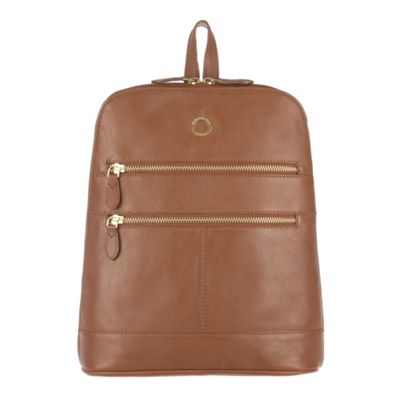 Conkca London Chestnut ´Florence´ veg-tanned leather small backpack - . -
