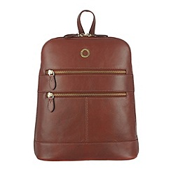 Conkca London - Cognac 'Florence' veg-tanned leather small backpack