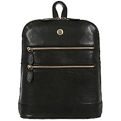 Conkca London - Black 'Florence' leather small backpack
