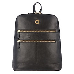 Conkca London - Raven 'Florence' veg-tanned leather small backpack