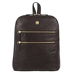 Conkca London - Vintage brown 'Florence' tumbled leather small backpack
