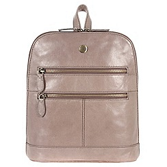 Conkca London - Zinc 'Florence' handcrafted waxed leather backpack