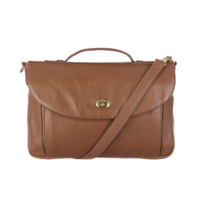 Conkca London Chestnut ´Agatha´ veg-tanned leather satchel - . -