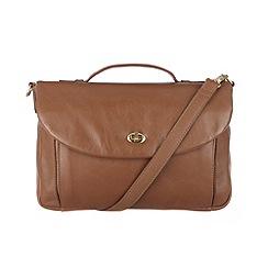 Conkca London - Chestnut 'Agatha' veg-tanned leather satchel