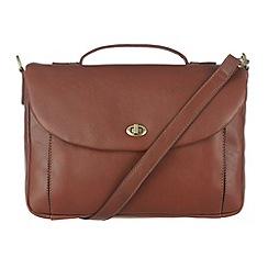 Conkca London - Cognac 'Agatha' veg-tanned leather satchel