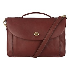 Conkca London - Whiskey 'Agatha' veg-tanned leather satchel