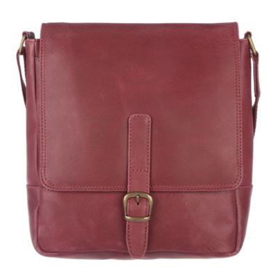 Conkca London Berry ´Jolly´ veg-tanned leather cross-body bag - . -