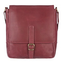 Conkca London - Berry 'Jolly' veg-tanned leather cross-body bag