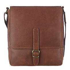 Conkca London - Brown 'Jolly' veg-tanned leather cross-body bag