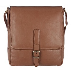 Conkca London - Chestnut 'Jolly' veg-tanned leather cross-body bag