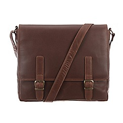 Conkca London - Conker brown 'Postie' vintage leather satchel