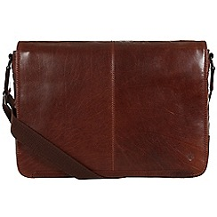 Conkca London - Conker brown 'Croft' leather messenger bag
